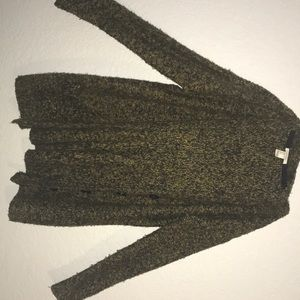 Green knit cardigan